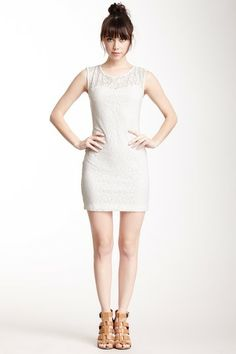 Cutout Back Lace Dress by BCBG on @HauteLook