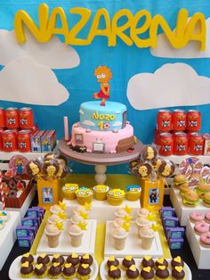 The Simpsons Birthday Party Ideas The Simpsons Theme, Simpsons Party, Birthday Diy, 10th Birthday, Birthday Party Themes, Happy Birthday, Bolo Simpsons, Festa Party, Happy B Day