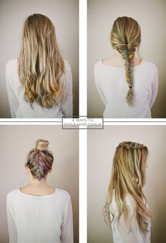 4 ways to style hair chalk