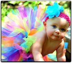 Rainbow Tutu for baby, toddler, girls - great for birthdays, photo props, dance. $25.00, via Etsy.