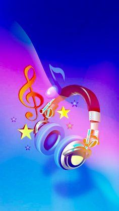 Music is Life Musik Wallpaper, Iphone Wallpaper Music, Galaxy Wallpaper, Music Drawings, Music Artwork, Pretty Wallpapers, Live Wallpapers, Music Backgrounds, Wallpaper Backgrounds