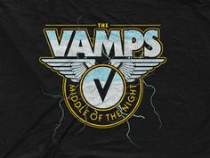 The Vamps - Electric Wings designed by Corey Thomas. the global community for designers and creative professionals. The Vamps Logo, Meet The Vamps, Somebody To You, Will Simpson, Bradley Simpson, Eleanor Calder, Liam Payne, Classic Hollywood, Cool Bands