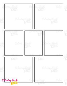 A blank comic book template to create great stories for kids and adults. Simple symmetrical panels for easy drawing. This empty comic bookcase features one repeating layout of 7 panels. 120 pages of the same template is the perfect layout for aspiring artists. One of the most popular and liked templates by professional comic drawing artists that can be found in every comic book. Create Your Own Comic, Draw Your, Blank Comic Book, Comic Books, Stories For Kids, Great Stories, Comic Book Drawing, Comic Book Template, Comic Panels