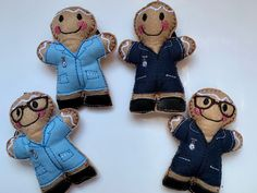 These cute little nurses are available in either navy or light blue dress with faux leather shoes and with or without glasses. #nurse #nursing #nursingstudents #nurses #nursesrock #medicalstudent #retirement #letterboxgifts #forher #hospital Gingerbread Man Decorations, Gingerbread Ornaments, Medical Gifts, Nurse Gifts, Letterbox Gifts, Light Blue Dresses, Nursing Students, Nurses, Retirement