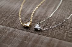 Our dainty CZ heart necklaces are perfect for bridesmaids gifts!