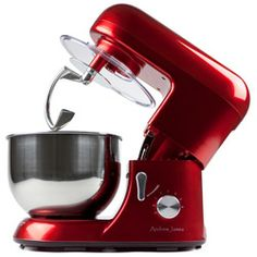 Andrew James Food Stand Mixer - 5.2 Litre - Red