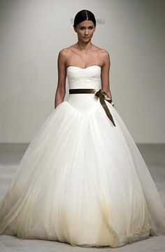 Soft Tulle Ball Gown Wedding Dress from Vera Wang