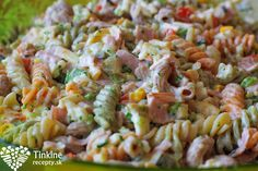 Studený cestovinový šalát - Powered by Slovak Recipes, Russian Recipes, Cooking Recipes, Healthy Recipes, Healthy Food, Fusilli, Pasta Salad, Salads, Sandwiches