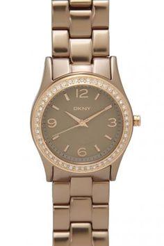 DKNY Diamante Aluminum Bracelet Watch