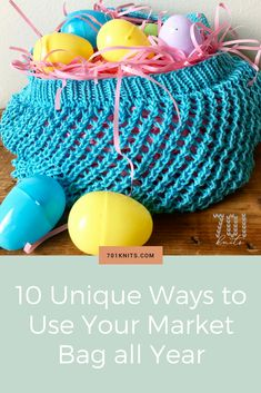 Hand knit market bags have so many uses! Learn all the ways you can use your reusable bag year round. From Easter baskets to gift wrap - you'll find something perfect!