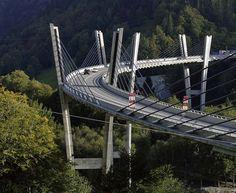 elegant bridge in the Prättigau aerea, Switzerland