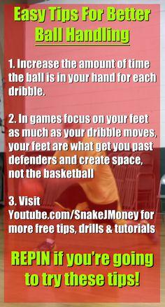 Easy tips for better ball handling. Visit http://youtube.com/snakejmoney for more free tutorials and tips! #basketball #bball #ballislife