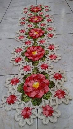 Home Decor Crochet Patterns Part 19 - Beautiful Crochet Patterns and Knitting Patterns Crochet Bedspread Pattern, Crochet Quilt, Crochet Flower Patterns, Crochet Stitches Patterns, Crochet Flowers, Diy Crochet And Knitting, Crochet Cap, Crochet Home, Crochet Motif