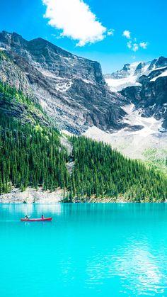 Pure Clear Lake Mountain Scenery #iPhone #6 #plus #wallpaper