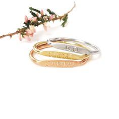 Set di anelli minimal componibili nei tre colori dell\\'oro _ maschio gioielli milano Milano, Minimal, Marriage, Wedding Rings, Engagement Rings, Bracelets, Gold, Jewelry, Valentines Day Weddings