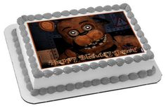 Five Nights at Freddy's 1 Edible Birthday Cake Topper OR Cupcake Topper, Decor