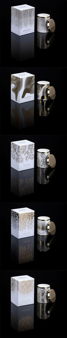 A collection of candles designed for DL&Co inspired by nature and the Mandelbrot Set. A collection of candles designed for DL&Co inspired by nature and the Mandelbrot Set. Candle Packaging, Tea Packaging, Luxury Packaging, Pretty Packaging, Cosmetic Packaging, Beauty Packaging, Brand Packaging, Product Packaging, Design Typo