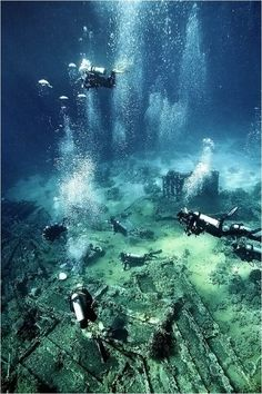 Yolanda Wreck, Egypt presents a challenging effort by scuba divers in this extremely deep dive that has much peril. Underwater City, Underwater Photos, Underwater Photography, Underwater Background, Scuba Destinations, Image Nature Fleurs, Sunken City, Sea Diving, Scuba Diving Gear