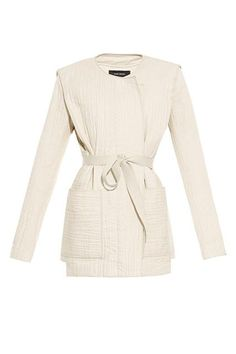 How To Wear Summer's Biggest Trends The Right Way #refinery29  http://www.refinery29.com/summer-2015-fashion-trends#slide-2  Do: Seek out fitted sleeves, so that the jacket has an almost blazer-like look. The open judo silhouette will play down the structure of the topper for a more casual, off-the-clock vibe.