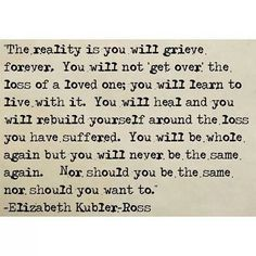 Wow. I couldn't have said it better myself. Loss does change you, no matter what kind of loss.