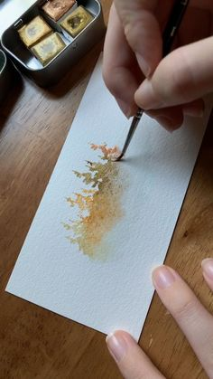Love using this gold paint to create magical floating watercolor forests! You can learn these misty forest techniques in my Skillshare class—check it out! The post Gold misty forest 🌲 appeared first on Woman Casual - Drawing Ideas Watercolor Video, Watercolor Painting Techniques, Watercolor Trees, Watercolour Tutorials, Painting Videos, Watercolor Cards, Watercolour Painting, Painting & Drawing, Watercolor Landscape Tutorial
