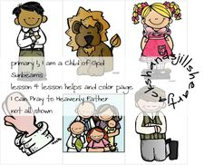 Primary 1, Sunbeams Lesson 4, I Can Pray to Heavenly Father, primary lesson visuals - lesson helps, FHE
