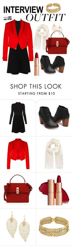 """""""Interview Outfit"""" by modemaniak1 ❤ liked on Polyvore featuring Paule Ka, TOMS, Max Factor, City Chic, Vivienne Westwood, Henri Bendel, Chanel, red, jobinterview and 60secondstyle"""