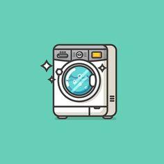 Front loading washing machine. #illustration #icon #pictogram #visforvector…