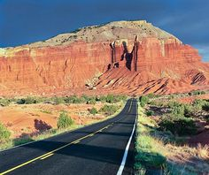 State Route 12 winding between Capitol Reef and Bryce Canyon national parks.