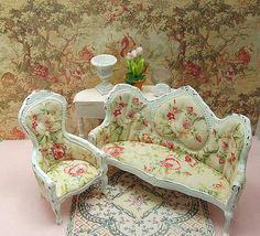 Image result for victorian shabby chic dollhouse