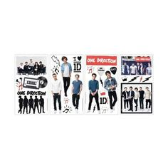 York Wallcoverings RMK2621SCS I Love ID One Direction Peel and Stick ($16) ❤ liked on Polyvore featuring home, children's room, children's decor, home decor, multi, wall decals and wallpaper