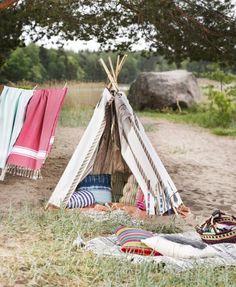 Ompele tiipii. Sew a tipi. | Unelmien Talo&Koti Kuva Satu Nyström Toimittaja: Anette Nässling