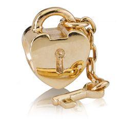 Pandora Gold Key to My Heart Charm