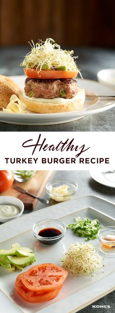To get your protein (with less fat than regular burgers), try a turkey burger with all your favorite toppings. To cut down on carbs, make an open-faced turkey burger with the recipe. Find your healthy motivation with Kohl's.