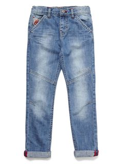 Boys Blue Denim Badge Jean - View All Boys 1-8- BHS