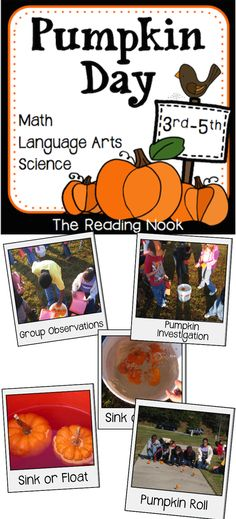 A fun event for the fall using Science Investigation, Math and Language Arts activities!
