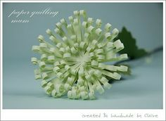 Claire's paper craft: Scent of Chrysanthemum ~ tutorial (translate blog from Korean) - blog has more posts with other flower tutorials