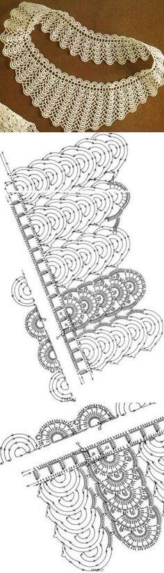 Вязанный воротничок