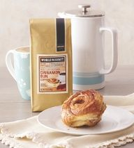 World Market Cinnamon Bun Coffee perfect for Easter Brunch >>  #WorldMarket Easter Style Hunt Sweepstakes. Enter to win a 1K World Market gift card.