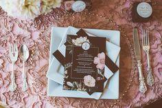 Luscious Romance: Pretty Paper Details Styled Shoot - Belle The Magazine Wedding Stationary, Wedding Invitations, Tiny Prints, Romantic Weddings, Paper Goods, Blossoms, Stationery, Romance, Magazine