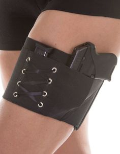 want all the colors  Black on Black Garter Holster for Concealed by CanCanConcealment, $45.00