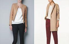 Izquierda. Cazadora de Zara 99.95€ / Derecha. Abrigo de Massimo Dutti 225€