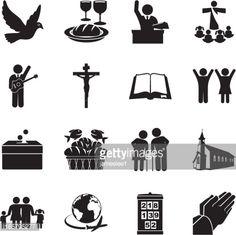 Vector Art : Church Icon Set