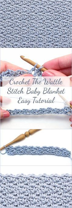 Learn how to crochet the wattle stitch baby blanket - Free Video Tutorial