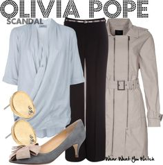 Inspired by Kerry Washington as Olivia Pope on Scandal.