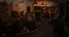 Rubble shop , Michal Motulewicz on ArtStation at https://www.artstation.com/artwork/rubble-shop
