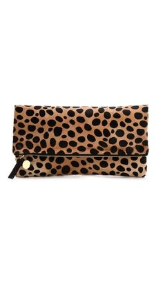 Clare Vivier haircalf foldover clutch.