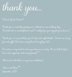 Thank You Card Template and general advice
