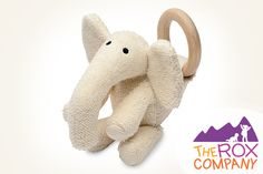 The Rox Company - Natural Teething Toy Zooley Elephant, $25.00 (http://www.theroxcompany.com/natural-teething-toy-zooley-elephant/)