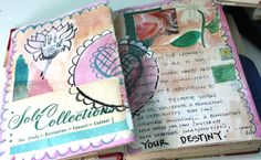 art journal friday – fun with vintage books